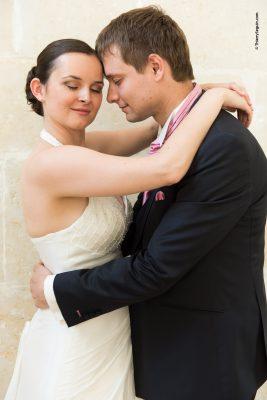 Couple de mariés - mariage Château de Thiverval Grignon