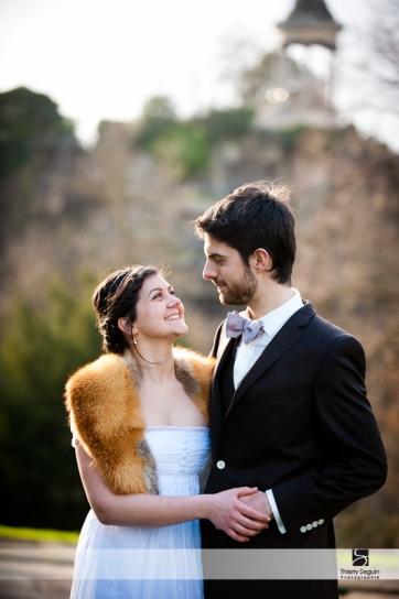 Photographe de mariage à Paris - Parc des Buttes Chaumont