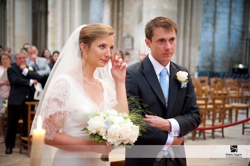 Photographe de mariage à la Collégiale de Mantes-la -Jolie