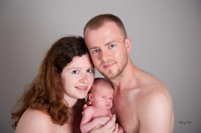 Portait de famille avec bébé