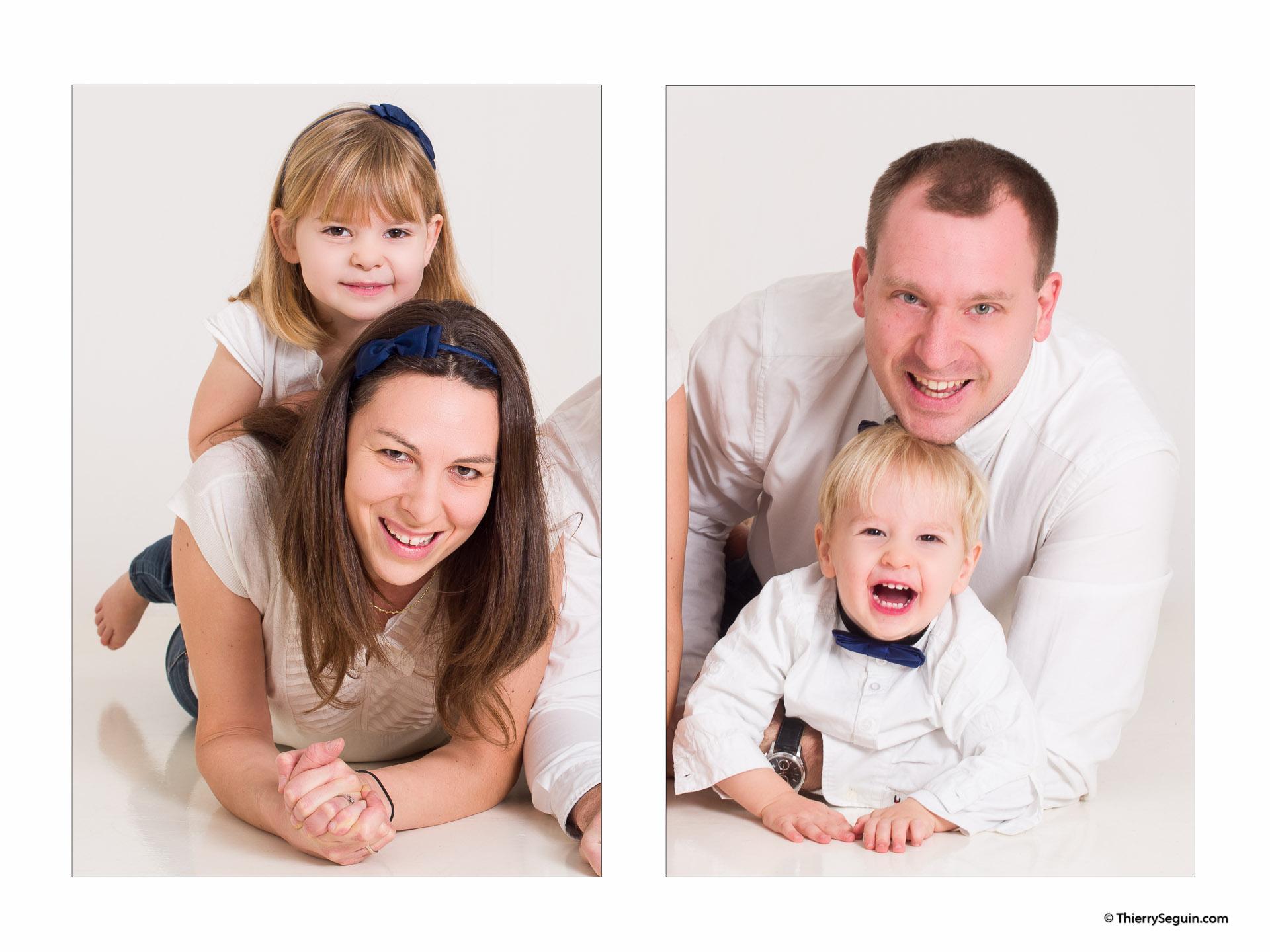 portrait de famille avec 2 enfants Versailles