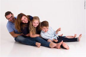 Photo de famille joyeuse
