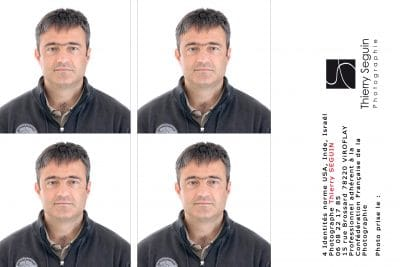 Planche photo identité ID US Inde Israël Thierry Seguin Photographie Versailles