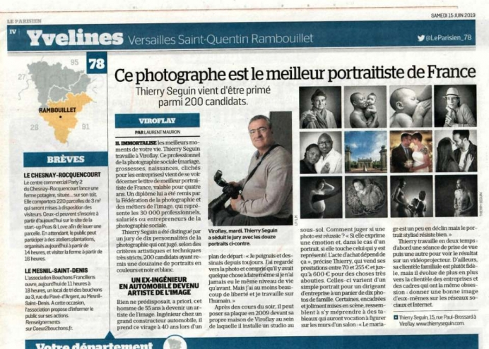 Thierry Seguin Portraitiste de France 2019 - le Parisien des Yvelines